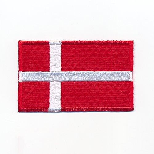 hegibaer 60 x 35 mm Dänemark Kopenhagen Europa Flagge Flag Aufnäher Aufbügler 0947 B