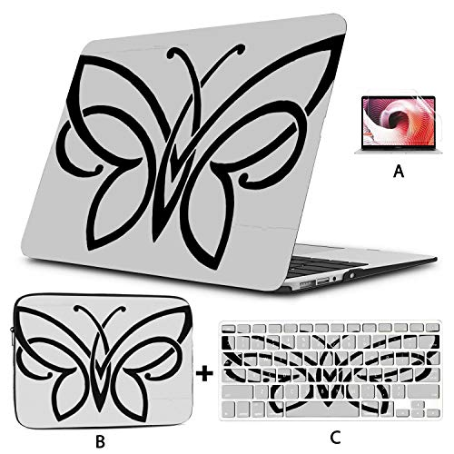 13 Macbook Pro Case Butterfly Ornament Insect Design Nature 15 Inch Laptop Case Hard Shell Mac Air 11'/13' Pro 13'/15'/16' With Notebook Sleeve Bag For Macbook 2008-2020 Version