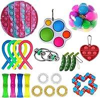 安くフィジットパック、フィジットのおもちゃセットプッシュポップの泡シンプルなディンプル無限キューブストレスボールと抗不安のおもちゃ