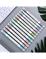 markeerstiften BE-TOOL dubbele hoofdmarkeerstiften, hoofdmarkeerstift, regenboogpastelkleurige markeerstift, voor studentenkantoor, klaslokaal, diverse kleuren (12-kleuren)