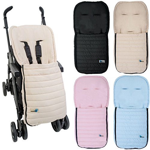 Fußsack Sommerfußsack für Kinderwagen Buggy Kinder Kinderwagenfußsack in 4 Farben (Beige)