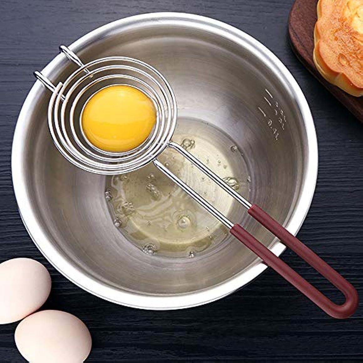 Egg Separator, Utoptech Silicone Food Grade Stainless Steel Hand-held Long Hand Egg Folk White Strainer Divider Filter