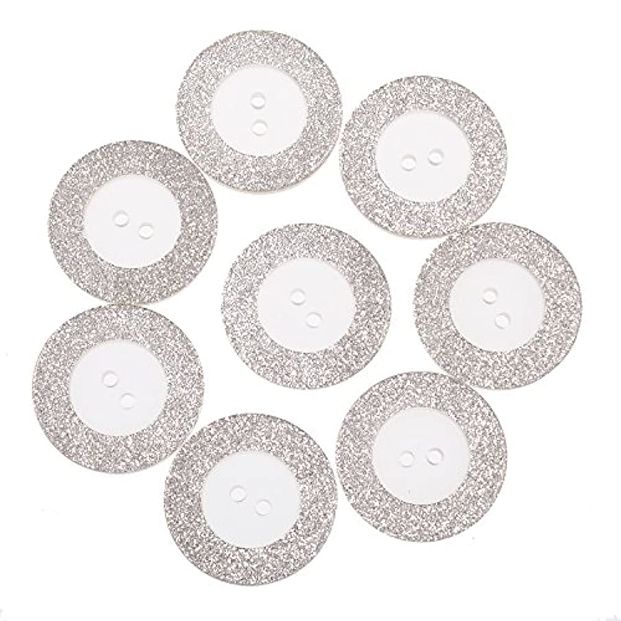 Polyester Button -2 Hole - Transparent with Silver Glitter Rim - 44 Line