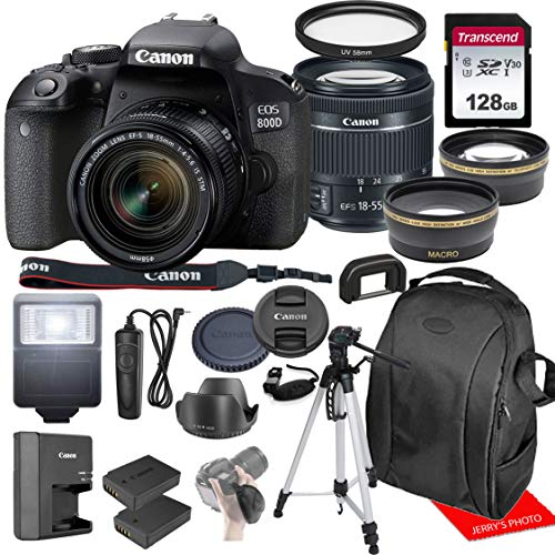 Canon EOS 800D / Rebel T7i w/Canon EF-S 18-55mm F/4-5.6 is STM Zoom Lens &...