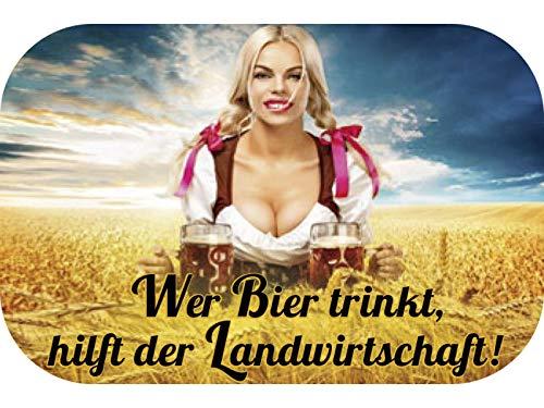 Blechwaren Fabrik Braunschweig Pillendose Mintdose WER Bier TRINKT HILFT DER Landwirtschaft + Pfefferminzdragees (100 g/26.33 €) 35