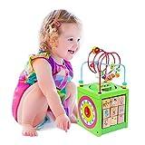 BeebeeRun Cube d'Activité Bébé en Bois 6 en 1 Centre d'Activité Jeu d'éveil Premier Âge...