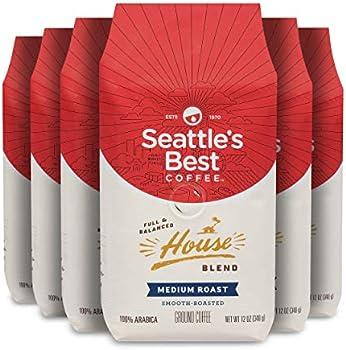 6-Pack Seattle's Best Coffee House Blend Medium Roast Ground Coffee