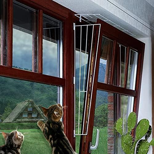 M.Versand Kippfenster-Schutzgitter Set, 3-TLG, Metall, weiß - 65x62 cm, inkl. Schrauben