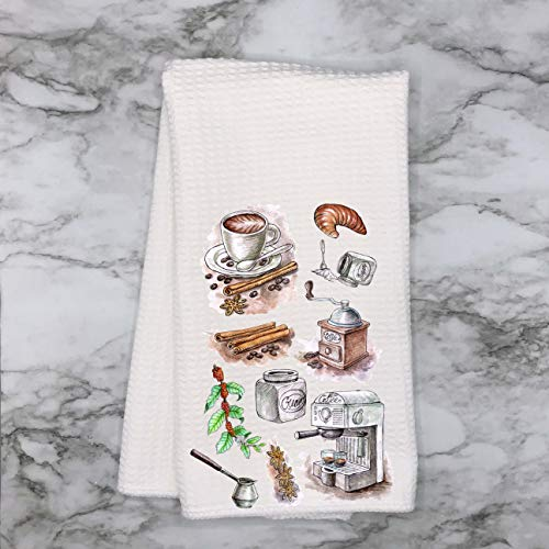 So Fresh and So Clean Waffle Weave Kitchen Towels Drying Cloth 16inch X 24inch White