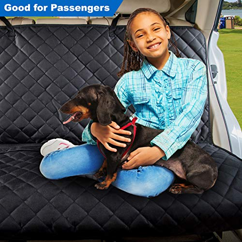 VIEWPETS Bench Car Seat Cover Protector - Waterproof, Heavy-Duty and Nonslip Pet Car Seat Cover for Dogs with Universal Size Fits for Cars, Trucks