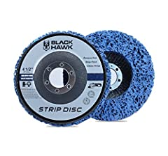 "4.5"" x 7/8"" Arbor Clean and Strip Discs Remove Rust, Paint, Scaling and Oxidation Effortlessly For use on wood, metal and fiberglass Blue Clean and Strip Discs has a longer life than Black Clean and Strip Discs Made for 4.5"" Angle Grinder - DOES NOT ..."