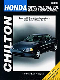 Chilton Honda Civic/CRX and del Sol 1984-1995 Repair Manual (30200)