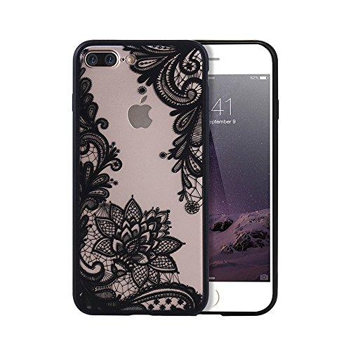 Caso para el iPhone 7 lujo elegante palacio patrón floral retro atractivo encaje claro contraportada Shell 4.7 pulgadas