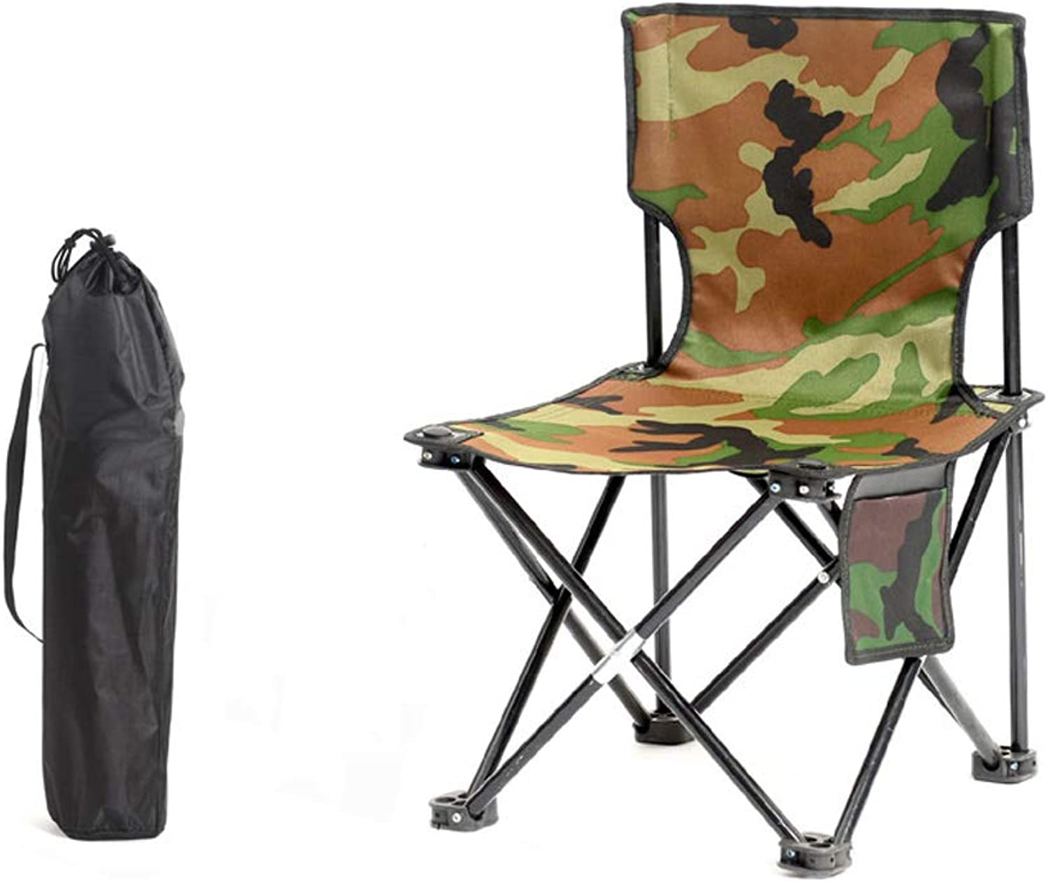 MXD Chair Outdoor Folding Chair Portable Camping Beach Fishing Chair Stool Folding Stool Camouflage (Size   M)