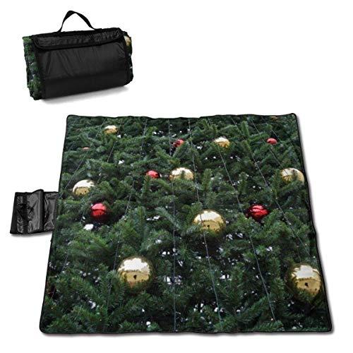 Suo Long Arbre de Noël avec des décorations Boules Couverture de Pique-Nique avec Tapis de Pique-Nique en Plein air pour Le Camping Beach Park Lawn