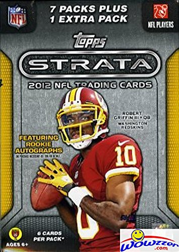 2012 Topps Strata NFL Football Factory Sealed Retail Box with 8 Foil Packs