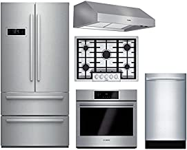 Bosch 5-Piece Stainless Steel Kitchen Package with B21CL80SNS 36