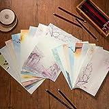 Carta da Lettere e Buste, Comius Sharp Set di Carta da Lettere, 32 Fogli di Carta 16 Buste Lettere Retrò Stile Vintage Cinese Regalo Saluti Auguri Compleanno, Set di Carta da Lettere in Stile