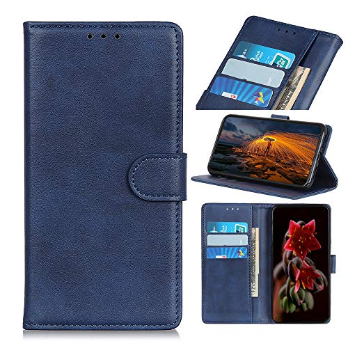 IMOK OnePlus 9 Pro Lite 5G mobile phone case, PU retro flip leather wallet mobile phone case, with card slot and bracket function, compatible with OnePlus 9 Pro mobile phone-Blue