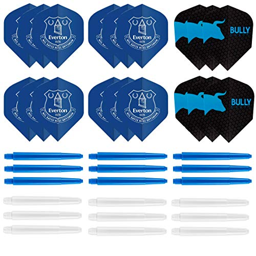 Everton Dartpfeile-Set – Everton Dart-Flights – Dart-Schäfte