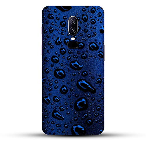 DREAMCART Beautiful Water Drops Blue Designer Lovely Attractive Look Printed Hard Back CASE Mobile Cover Phone for ONEPLUS 6 / ONE Plus 6/1+ 6