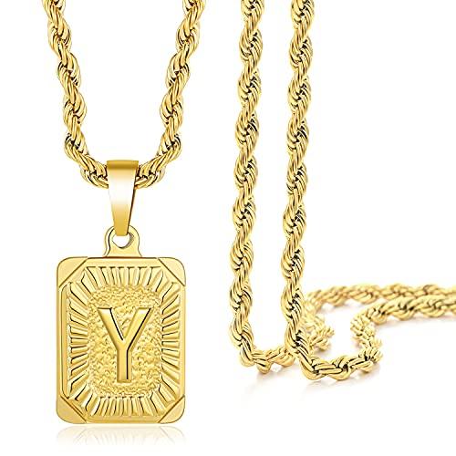 WLYX 26 Englische Briefkasten Anhänger Halsketten, Herren Und Damen Brief Charm Schlüsselbein Kette, Personalisierte Halskette Edelstahl Halskette (Color : Y)