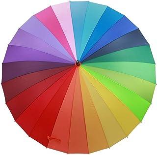 レインボーシェード日焼け止め大クリエイティブ抗UVロングハンドル傘 ZHANGAIZHEN (サイズ さいず : Small)