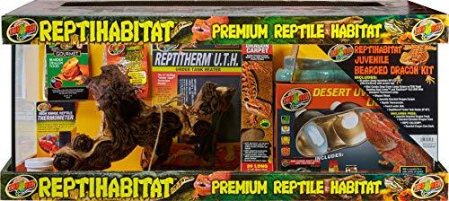 Zoo Med ReptiHabitat Juvenile Bearded Dragon Kit - 20 gal Long, Black