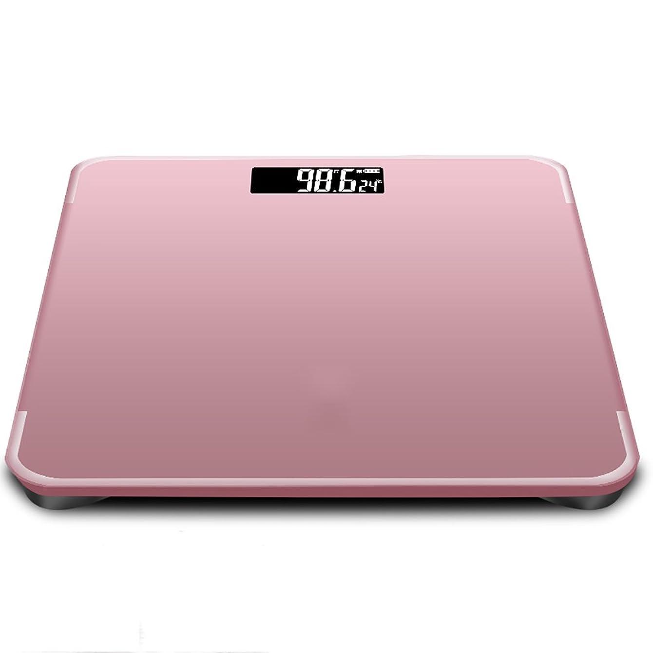 デコラティブカーテン熟達したSYF 体重計 体重計USB電子スケールは、家計の体重計のスケール人間の健康減量体重180キロ300x300x23mmを充電する (色 : Pink)