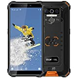 Oukitel WP5 Unlocked Rugged Smartphone - Face ID/Fingerprint IP68 Waterproof Android 10 Unlocked Cell Phones 4G LTE Dual SIM, 5.5inches 4GB 32GB Unlock(Orange)