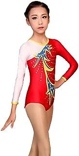 Kmgjc Body for Ginnastica Ritmica Body for Ginnastica Artistica Body for Bambina da Donna Sky Blue High Elasticity Fatto a Mano Manica Lunga Costume da Competizione Professionale