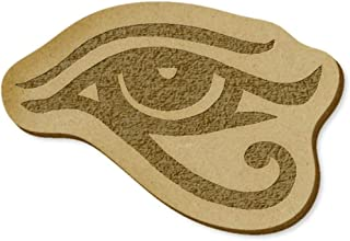 6 x 'Eye of Horus' MDF Craft Embellishments (EB00023494)
