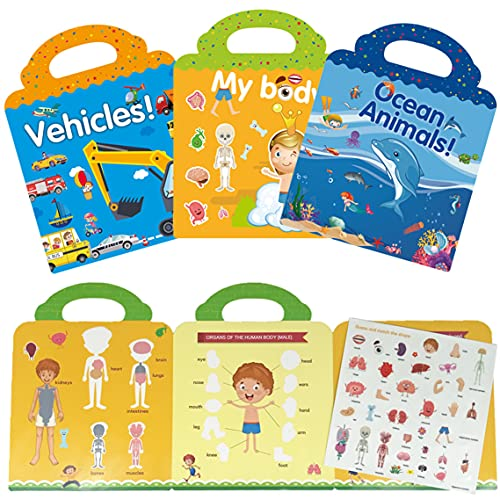 MBVBN Toys for 1 2 3 4 5 6 Year Old Girls Boys Gifts,Sticker Books for Toddler Toys Age 2-4 Birthday Gifts for 2 3 4 Year Olds,Coloring Book Sets for Kids Ages 4-6 Learning Toys for Toddlers 1-3