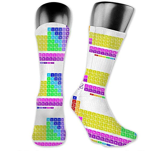 Uridy Hohe Söckchen Periodic Tablet Mid-Calf Crew Socks Sportliche Socken für Männer Frauen