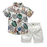 TTLOVE Kleinkind Baby Boy Bekleidung Kurzarm Fliege Gentleman Leaf T-Shirt Tops + Shorts...
