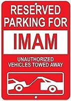 屋外屋内サインティンサイン、2422牽引イマム無許可車両用の予約駐車場ユニークなギフトギフト金属レトロな壁の装飾ユニークなアートポスター