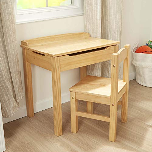 Melissa & Doug Wooden Lift-Top Desk & Chair - Honey
