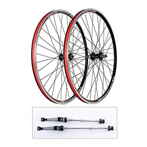 YBNB 700C Bicicleta De Carretera Ruedas De Ciclismo Aleación De Liberación Rápida Buje De Rodamiento Sellado Borde De Freno En V De Doble Pared Negro 1840 G/Par