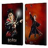 Head Case Designs Oficial Harry Potter Retrato de Harry Prisoner of Azkaban II Carcasa de Cuero Tipo Libro Compatible con Amazon Kindle Fire HDX 8.9
