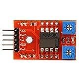 Módulo de sensor de inclinación de un solo eje, módulo de sensor de detección de ángulo de inclinación SCA60 C, electrónica de accesorios de PCB 5 V CC, inclinómetro de sensor de ángulo de