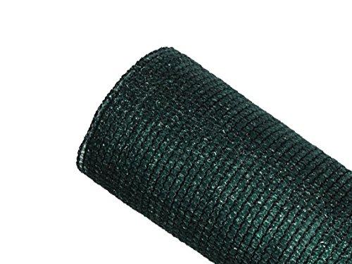 MAILLESTORE Brise-Vue 85% - Vert/Noir - 130g/m² - sans Boutonnières Vert/Noir 1.5m x 10m