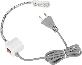 Symaskinsljus magnetisk LED-lampa magnetisk sockellampor LED-ljus arbete för symaskiner justerbart bordsbord ljus (10-LED ...