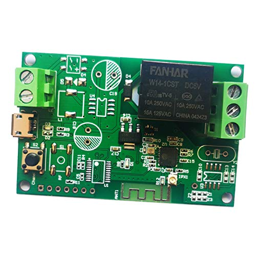 H HILABEE Smart Home WiFi Interruptor de Módulo de Relé de Interruptor Inteligente Inalámbrico para Android IOS