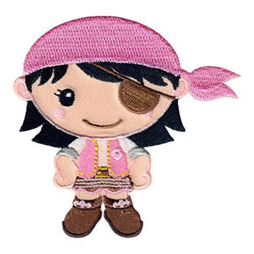 PatchMommy Pirata Niña Parche Termoadhesivo Parche Bordado - Apliques para Niños