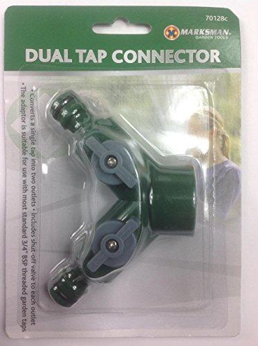 3/4'tornillo doble manguera de jardín adaptador de conector divisor de doble doble apagado en grifo