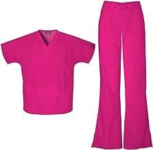 Cherokee Workwear Women's 4700 Top & 4101 Pant Medical Uniform Scrub Set