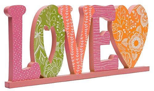 C.R. Gibson 'Love' Word Plaque, Grande