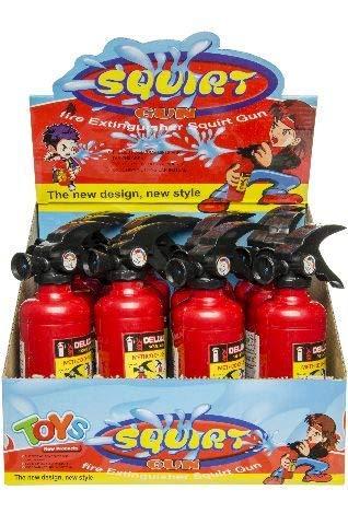 Schnooridoo 1 x Wasserspritzpistole Feuerlöscher Feuerwehrmann Wasserpistole Scherzartikel Wasserspritzpistole