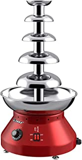 5 Tiers Chocolate Fountain Stainless Steel Chocolate Fondue Machine Chocolate Waterfall for Commercial Wedding Party Chris...