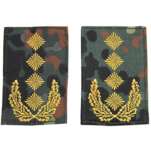 Unbekannt Rangabzeichen mit Klett flecktarn mit goldenem Stick General